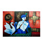 Fizdi Canvas 36 x 0.2 x 22.8 Inch Manmohana Unframed Art Painting
