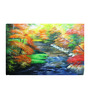 Fizdi Canvas 36 x 0.2 x 24 Inch Forest Path Unframed Art Painting