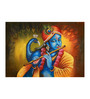Fizdi Canvas 36 x 0.2 x 24 Inch Gopal Plays Flute 1 Unframed Art Painting