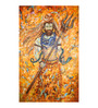 Fizdi Canvas 36 x 0.2 x 54.8 Inch Lord Shiva with Trishul Unframed Art Painting