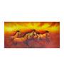 Fizdi Canvas 48 x 0.2 x 24 Inch 5 Good Luck Horses Rajmer 02 Unframed Art Painting