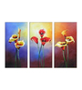 Fizdi Canvas 48 x 0.2 x 32 Inch Charming Unframed Art Panel - Set of 3