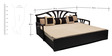 Flora Slider Sofa cum Bed with Four Pillows in Cream Colour by Auspicious Home