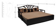 Flora Slider Sofa cum Bed with Two Pillows & Four Round Bolsters in Brown Colour by Auspicious