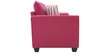 Florence Three Seater Sofa in Hot Pink Colour by Furnitech