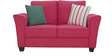 Florence Two Seater Sofa in Hot Pink Colour by Furnitech