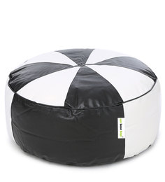 Floor Cushion Cover without Beans in Black & White Colour by Can