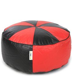 Floor Cushion Cover without Beans in Red & Black Colour by Can