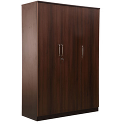 Florence Three Door Wardrobe in Wenge & Walnut Colour by Nilkamal