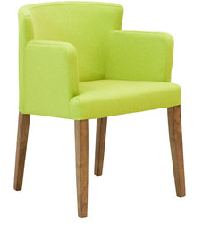 Florentino Dining Chair In Fern Green & Cocoa legs By CasaCraft
