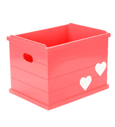 FLYFROG KIDS Heart Pink Wood and MDF 3 Kg Storage Box