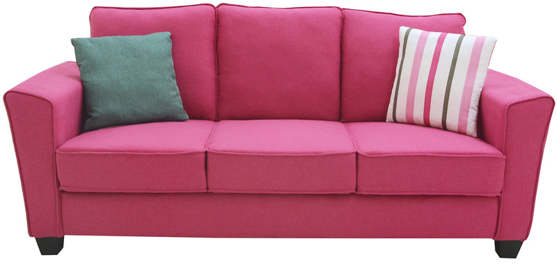 Buy Florence Three Seater Sofa In Hot Pink Colour By