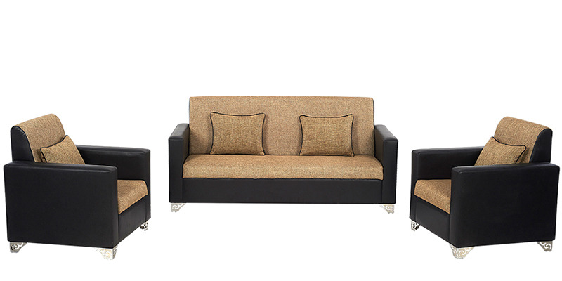 Florida Sofa Set 3+1+1 in Black Colour by ARRA