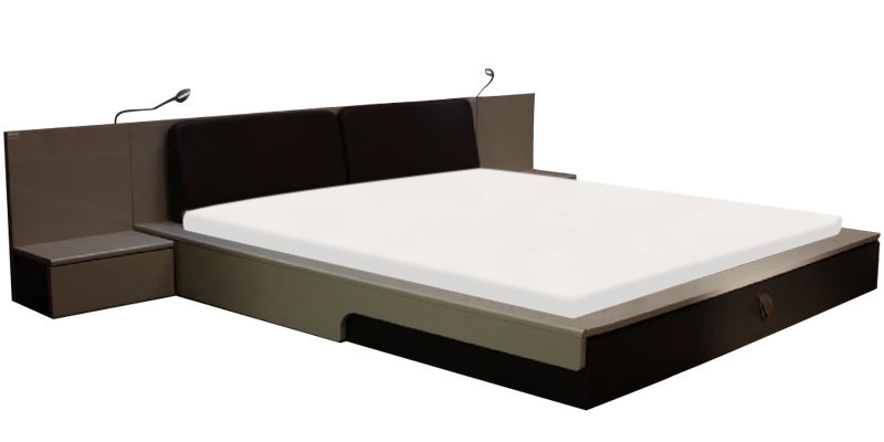 Flute Platform King Bed With Bedside Mobile Unit By Godrej Interio By Godrej Interio Online