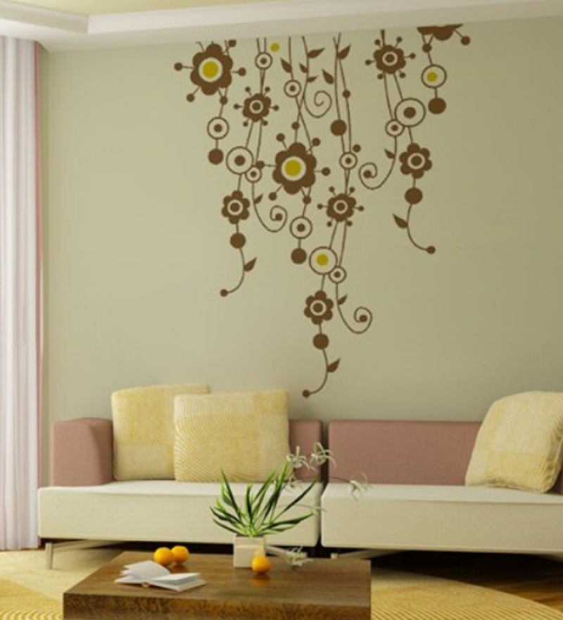 Wall art decor floral vines wall sticker by wall art decor for Designer wall art