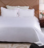 Floor & Furnishing White Cotton King Size Bed Sheet - Set of 3