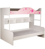 Floral Theme Bunk Bed in White Colour by Child Space