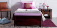 Bismarck Single Bed with Storage  in Passion Mahogany Finish by Amberville