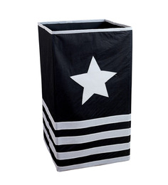 My Gift Booth Non-Woven 20 L Black Laundry Basket