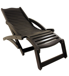 Folding Chair in Walnut Finish by Lakkarhara