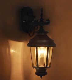Fos Lighting Downward Single Shade Victorian Black Wall Mounted Light