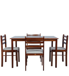 Four Seater Dining Set in Wenge Finish by Parin at pepperfry