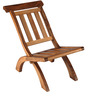 Folding Chair Solid rubber wood with Natural Finish by Tube Style