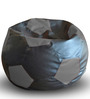 Football Bean Bag (Cover Only) XXL size in Black & Grey Colour  by Style Homez