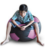 Football Bean Bag (Cover Only) XXL size in Black & Purple Colour  by Style Homez