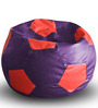 Football Bean Bag (Cover Only) XXL size in Purple & Red Colour  by Style Homez