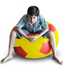 Football Bean Bag (Cover Only) XXL size in Yellow & Red Colour  by Style Homez