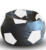 Football Bean Bag XXL size in Black & White Colour with Beans by Style Homez