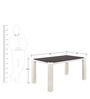 Fortis 4 Seater Dining Table - @home Nilkamal by @home