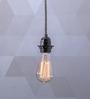 Fos Lighting Black Steel Vintage Filament Pendant Light
