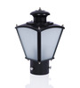 Fos Lighting Aluminum and Glass Black Outdoor Gate Light