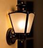 Fos Lighting Upward Single Shade Black Wall Mounted Light