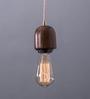 Fos Lighting Brown Wood Modern Wooden Single Hanging Lamp