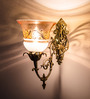 Fos Lighting White & Gold Glass Wall Light