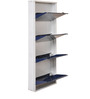Metallic Four Door Shoe Rack in Blue Colour by FurnitureKraft