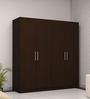Four Door Wardrobe in Country Oak Dark Finish in PLPB by Primorati