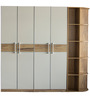 Four Door Wardrobe in White & Natural Colour by Penache Furnishings