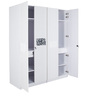 Four Door White Wardrobe by Parin