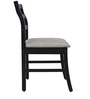 Four Seater Dining Set with Four Chairs & MDF Top in Wenge Colour by Crystal Furnitech