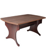 Four Seater Dining Table with Plywood Top in Rosewood & Walnut Colour by Crystal Furnitech