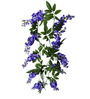 Fourwalls Purple Polyester Artificial Wisteria Bloom Garland with Leafy Accents