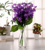 Fourwalls Blue Amazing Artificial Blossom Flower Bunch Set