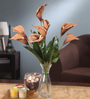 Fourwalls Brown Foam Latex Calla Lily Artificial Flower Bouquet