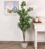 Fourwalls Green Polyester 760 Leaves Artificial Hide Green Floor Plant