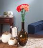 Fourwalls Peach Fabric Artificial Single Carnation Stems - Set of 10