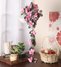 Fourwalls Pink Fabric Artificial Floral Bale
